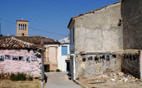 Από τις γειτονιές της παλαιάς πόλης της Χαλκίδας στην ισόγεια αίθουσα''Αριστοτέλης''του Δημαρχείου Χαλκίδας.